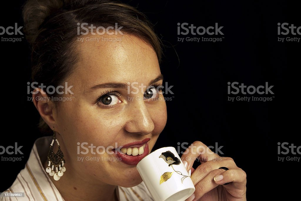 Sipping on an Espresso royalty-free stock photo