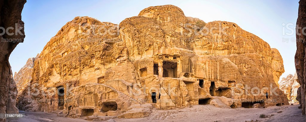 Siq al-Barid / Little Petra - Jordan stock photo