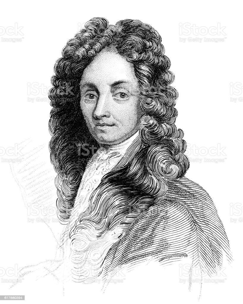 Sir Christopher Wren stock photo