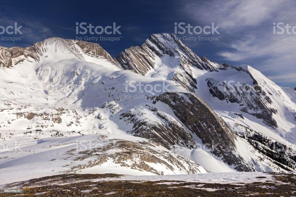 Sir Douglas Mountain Kananaskis Winter Rockies stock photo