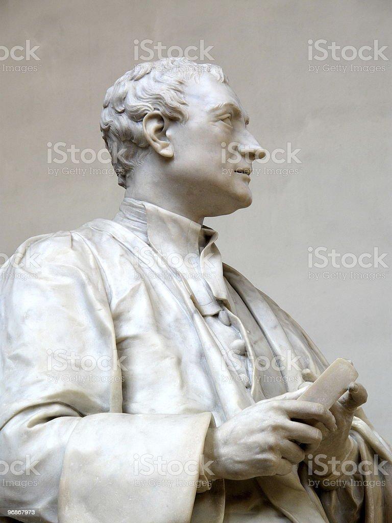 Sir Isaac Newton statue stock photo