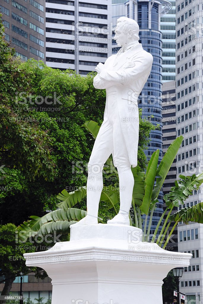 Sir Stamford Raffles, Singapore royalty-free stock photo