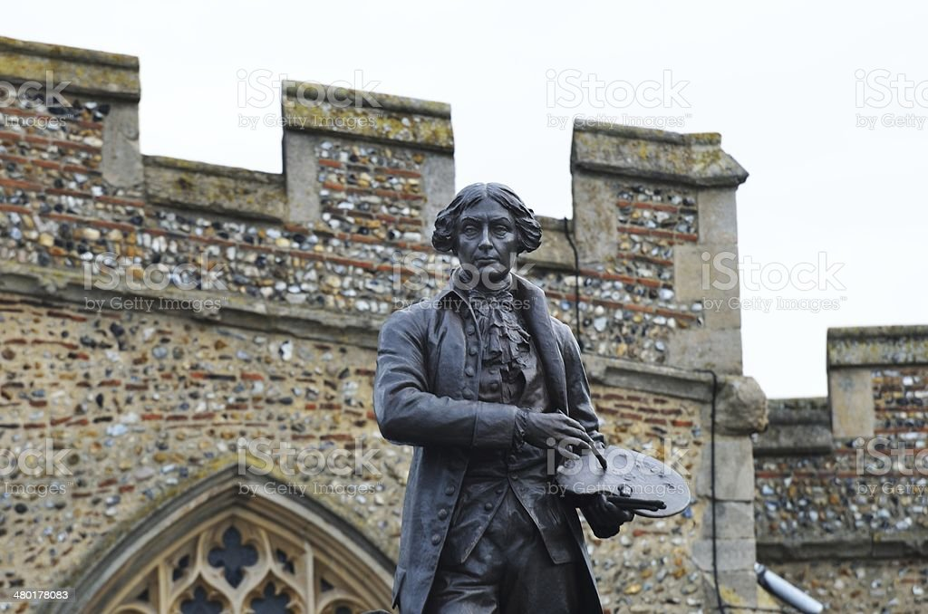 Sir thomas gainsborough with wall royalty-free stock photo