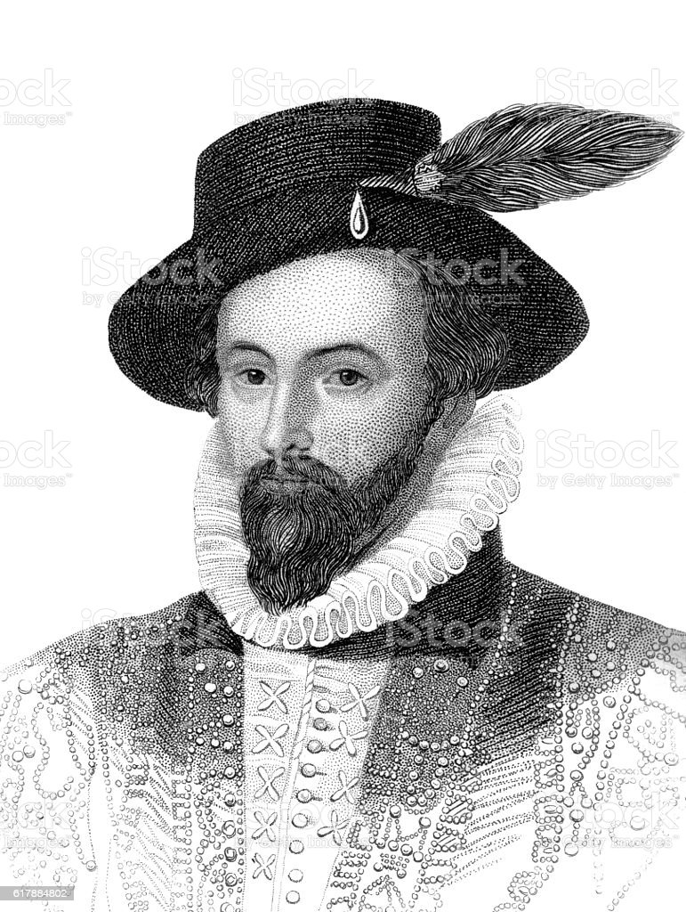 Sir Walter Raleigh stock photo