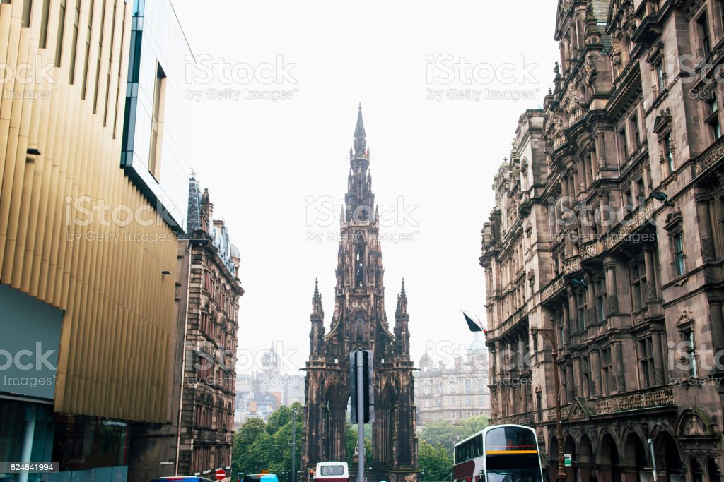 Sir Walter Scott Monument, Edinburgh stock photo
