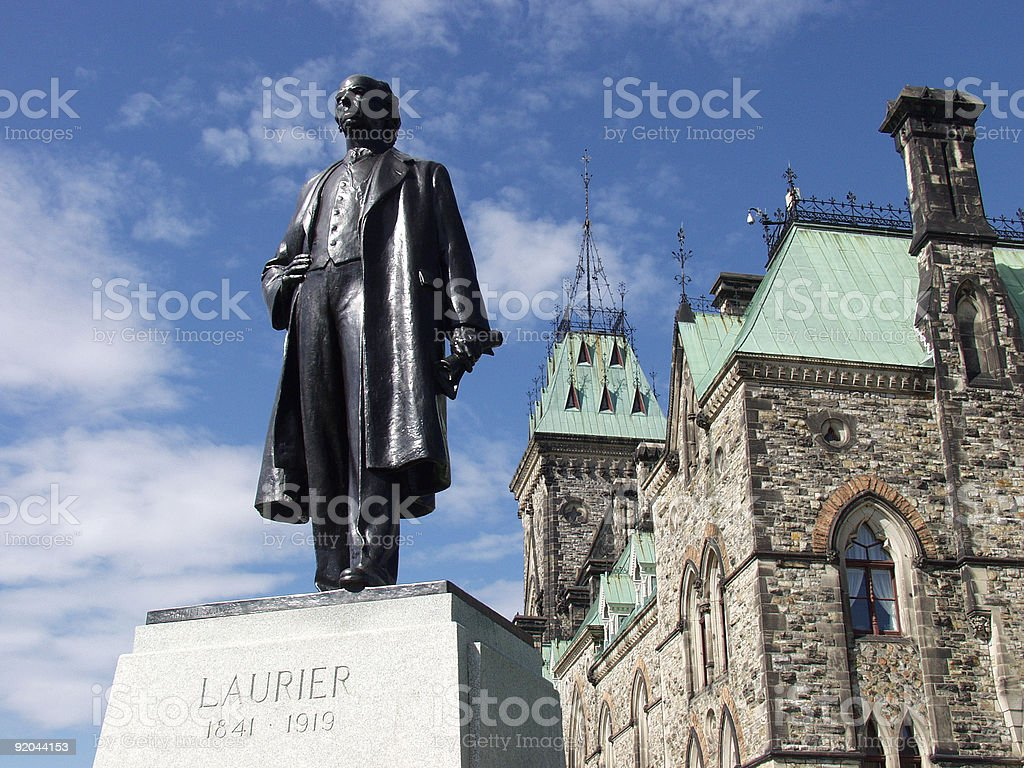 Sir Wilfrid Laurier 1841-1919 stock photo