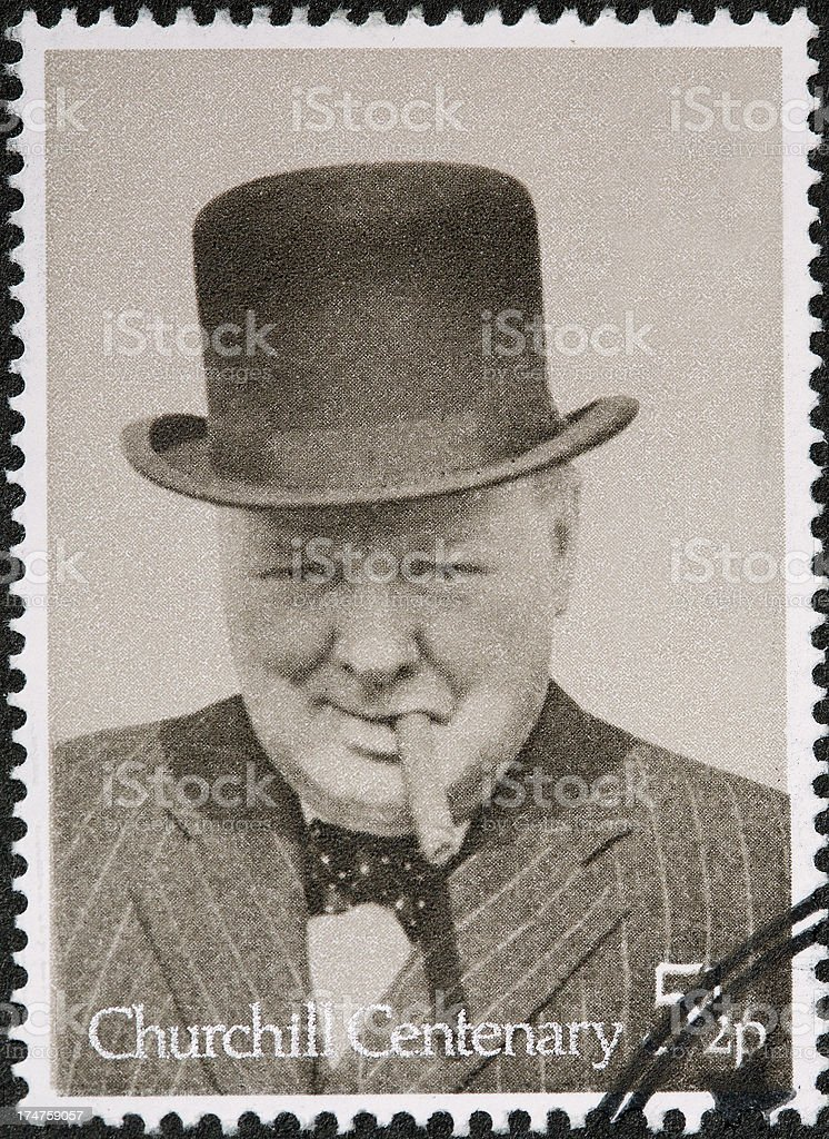 Sir Winston Churchill stock photo