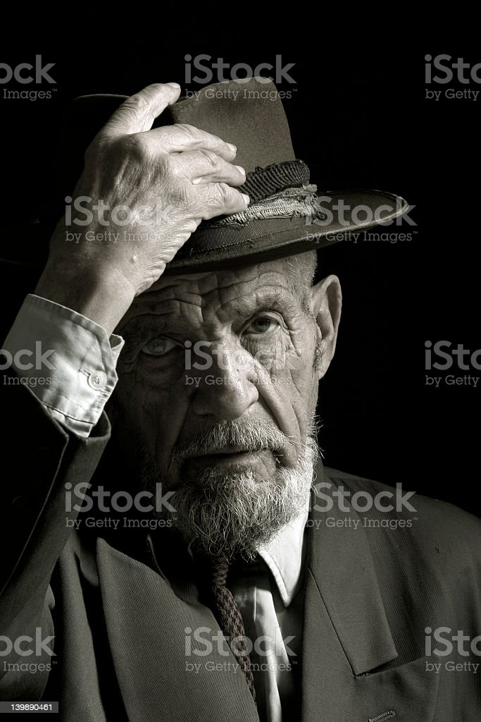 sir with hat 2 royalty-free stock photo