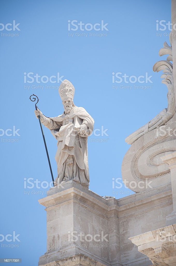 Siracusa in Sicily, the Cathedral royalty-free stock photo