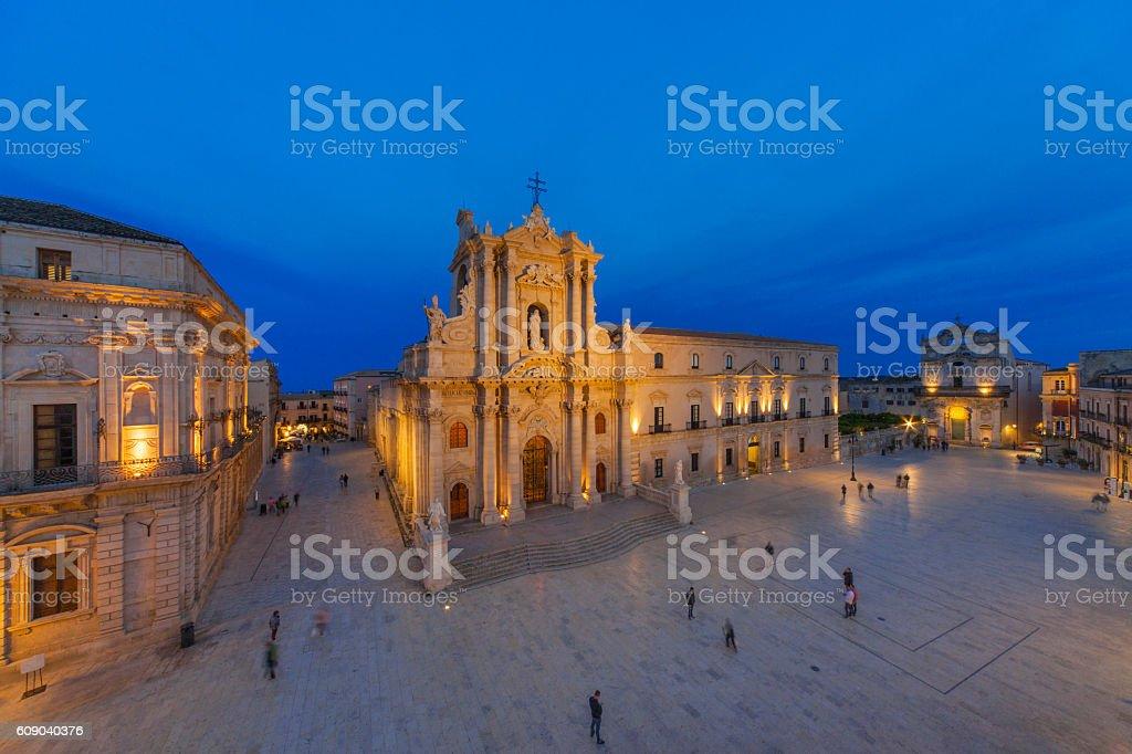 Siracusa, piazza Duomo stock photo