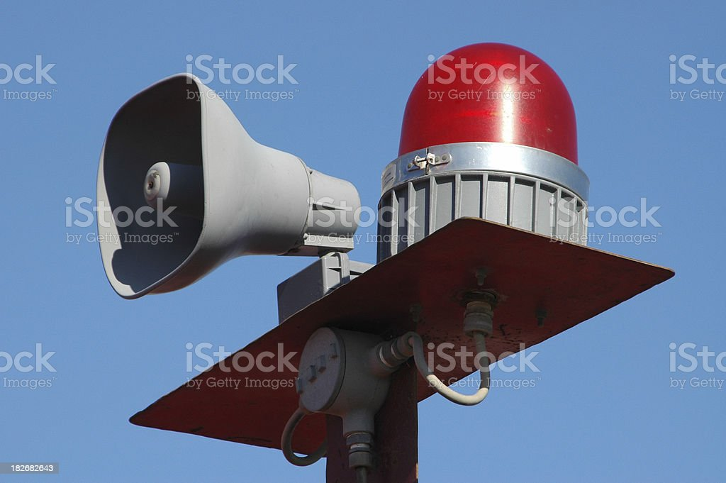 Siren alarm stock photo