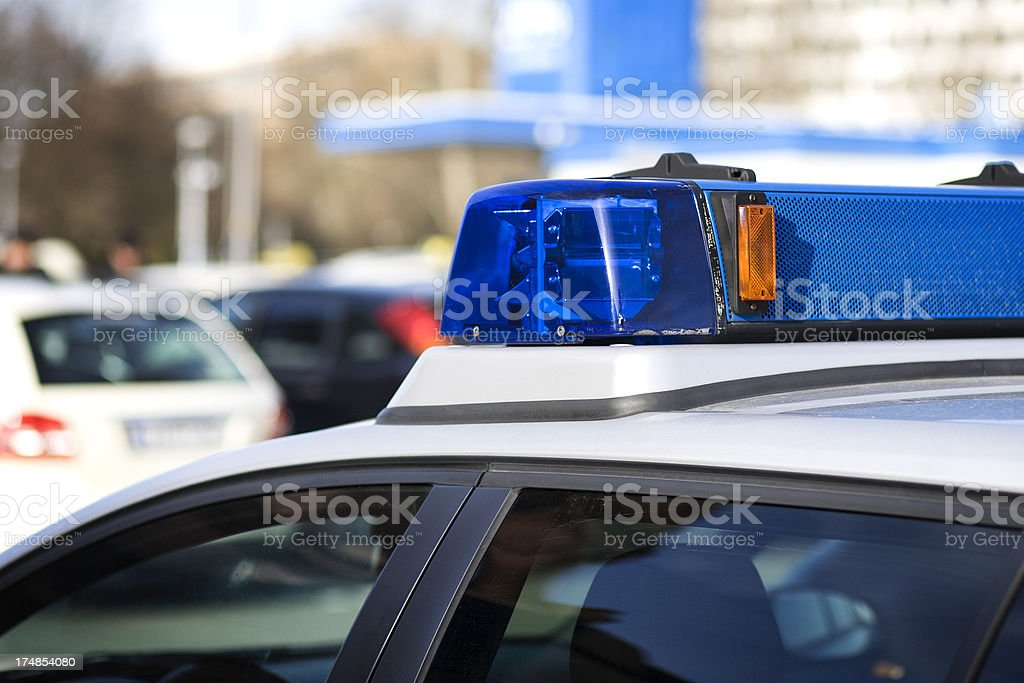 Siren, police car - selective focus royalty-free stock photo