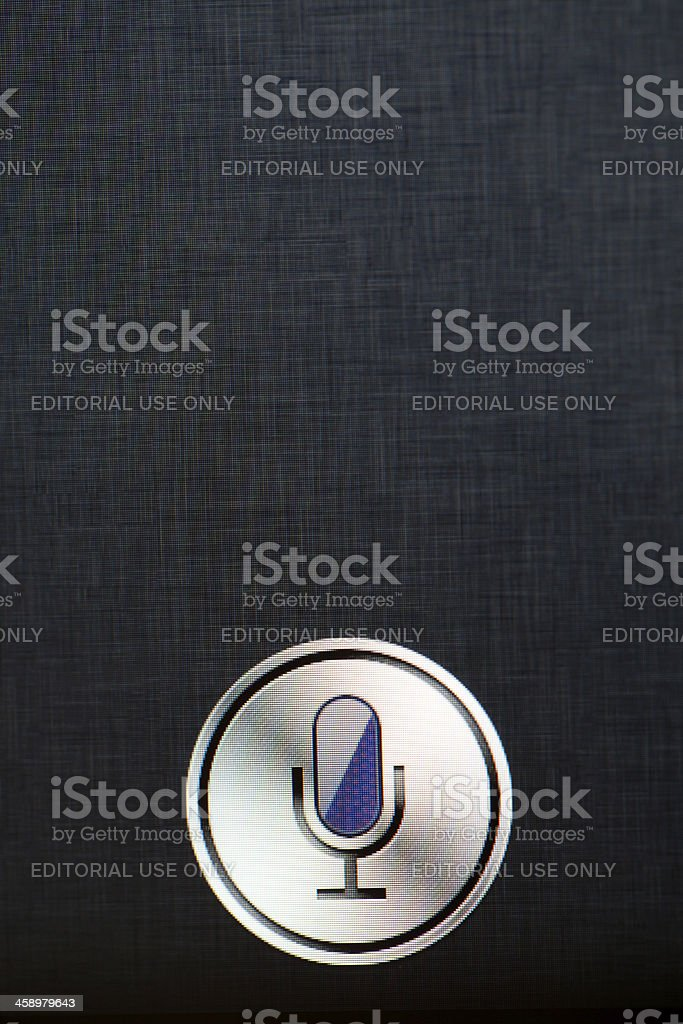 Siri application on Iphone 4S royalty-free stock photo