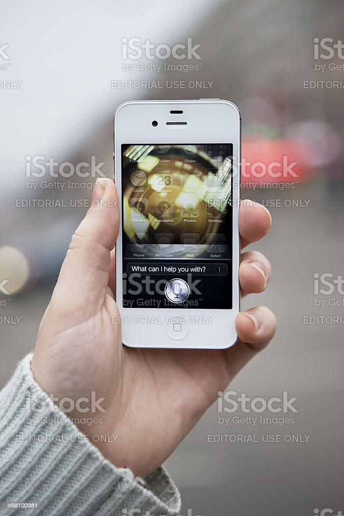 Siri - iPhone 4S royalty-free stock photo