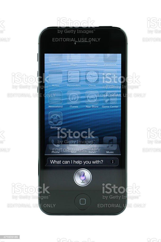 Siri screen on iPhone 5 royalty-free stock photo