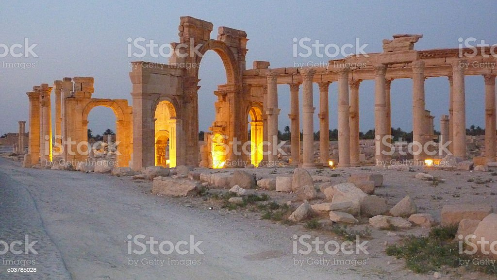 Siria Palmira Baal temple stock photo