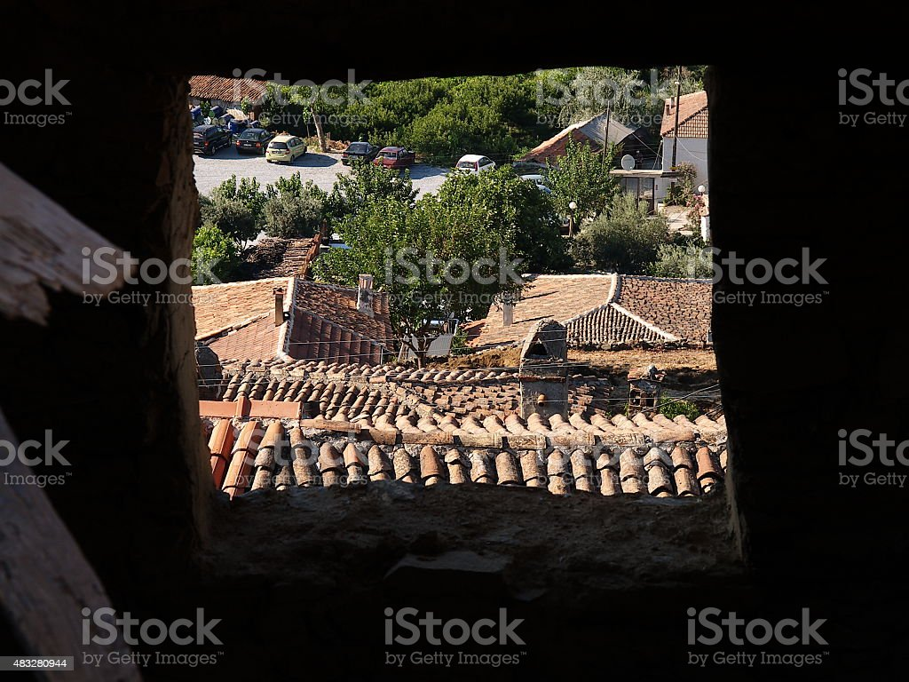 sirince village, ?irince k?y? royalty-free stock photo