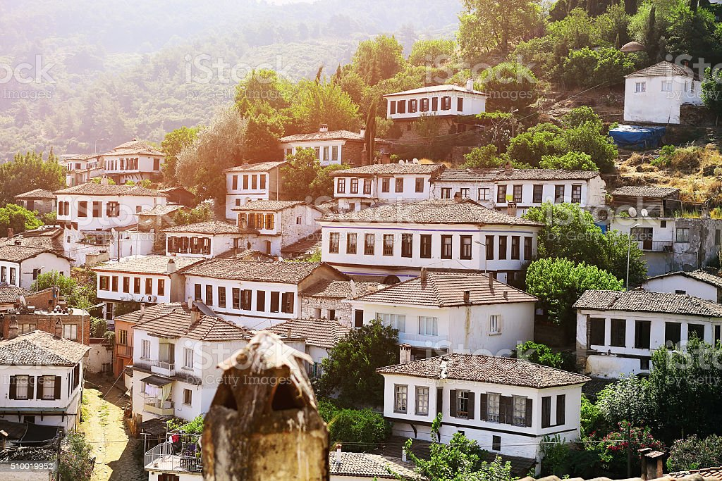 Sirince village, Izmir Province, Turkey stock photo