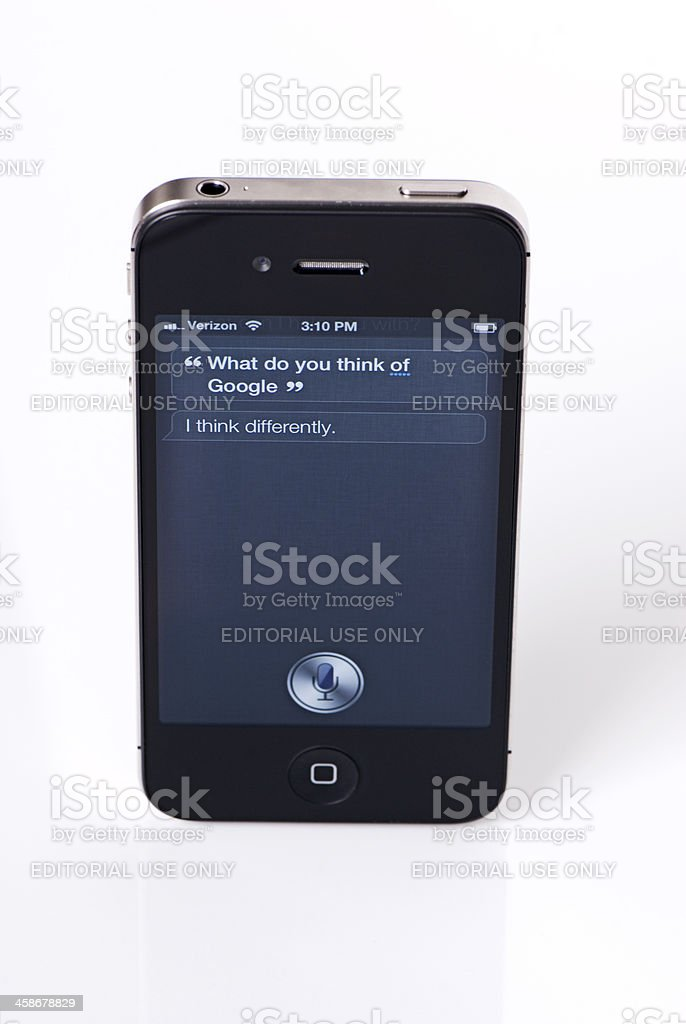 Siri's Thoughts on Google royalty-free stock photo