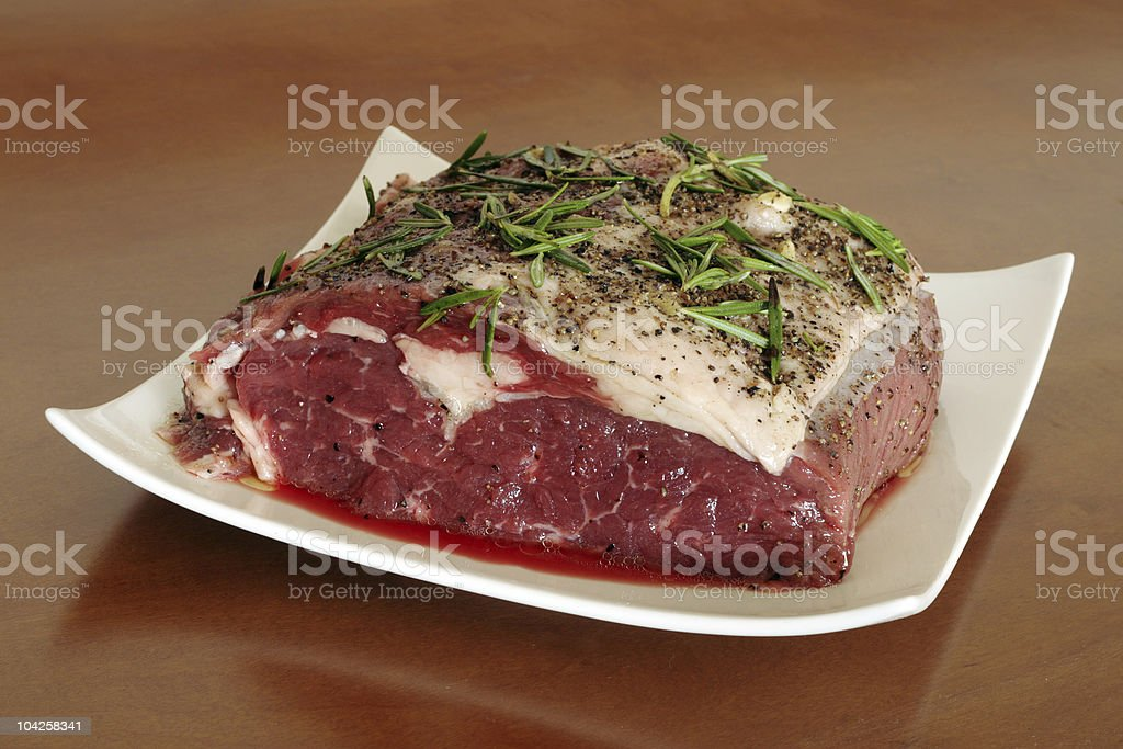 Sirloin on a plate royalty-free stock photo