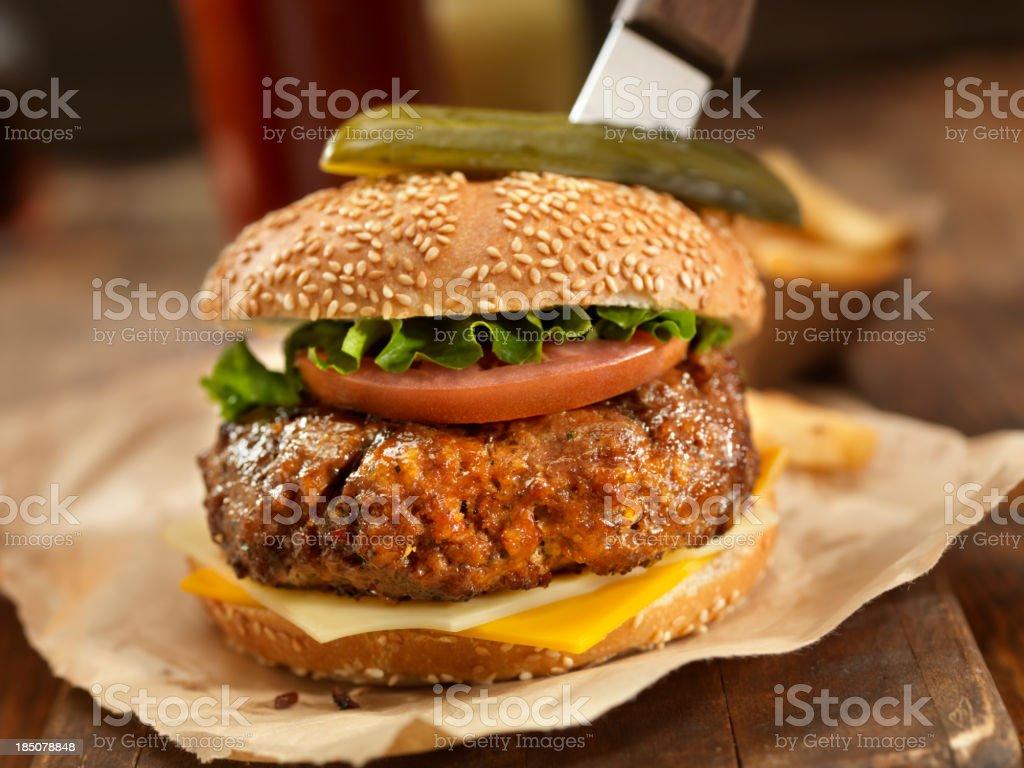 Sirloin Steak Burger stock photo