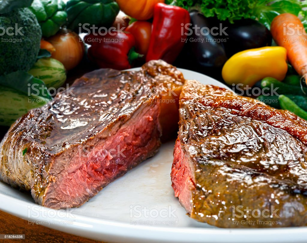 Sirloin steak stock photo