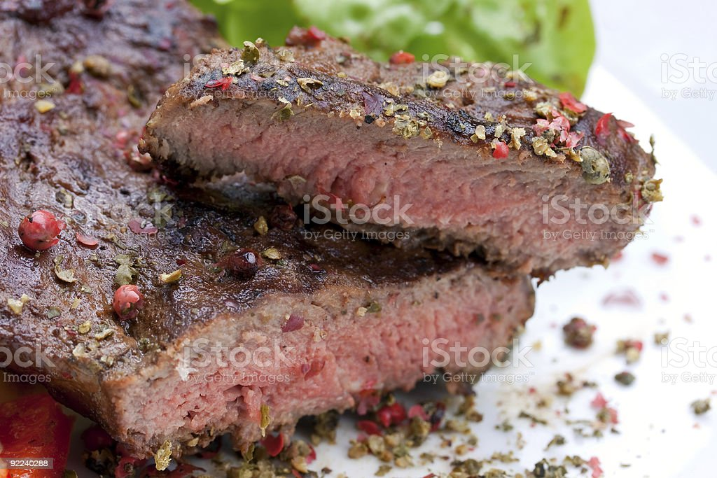 sirloin strip steak royalty-free stock photo