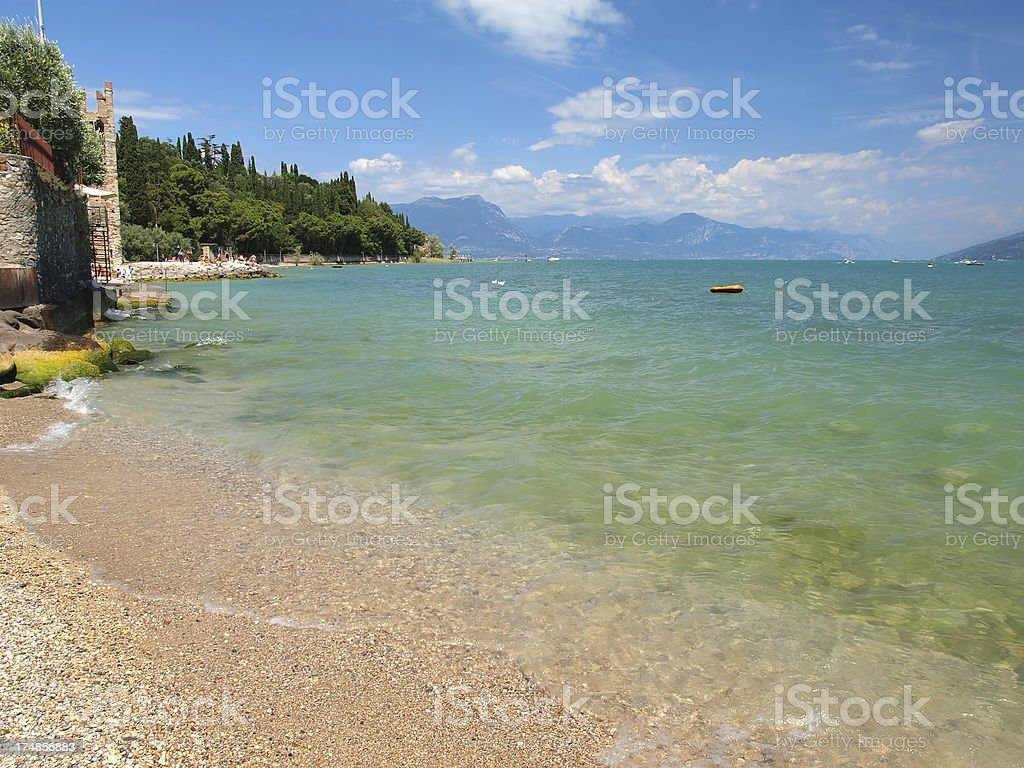 Sirmione beach stock photo