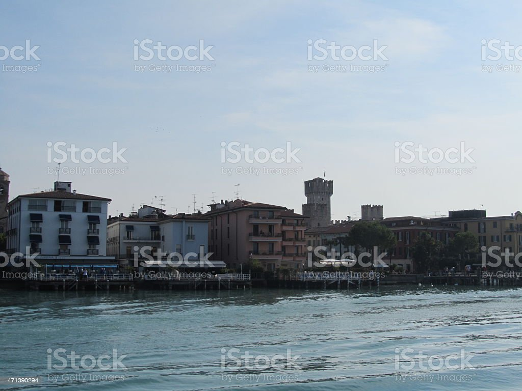 Sirmione in the south of Lake Garda Italy stock photo