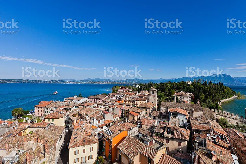Sirmione Peninsula, Lake Garda stock photo