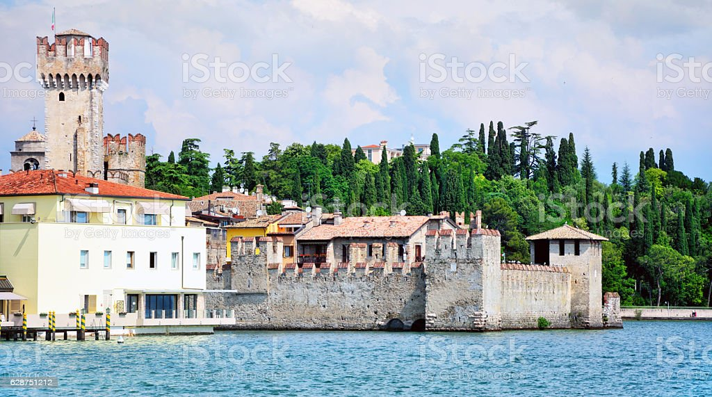 Sirmione town, Italy stock photo