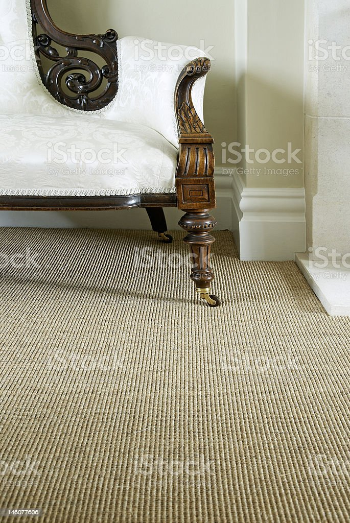 sisal carpet stock photo