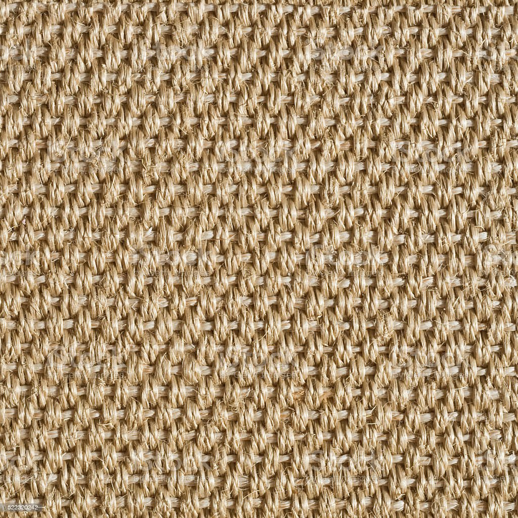 Sisal carpet texture for background seamless tiles stock photo