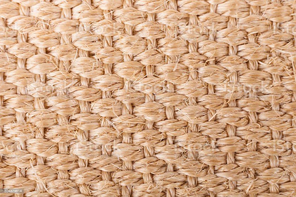 Sisal carpet texture stock photo