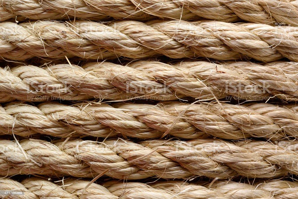 Sisal rope royalty-free stock photo
