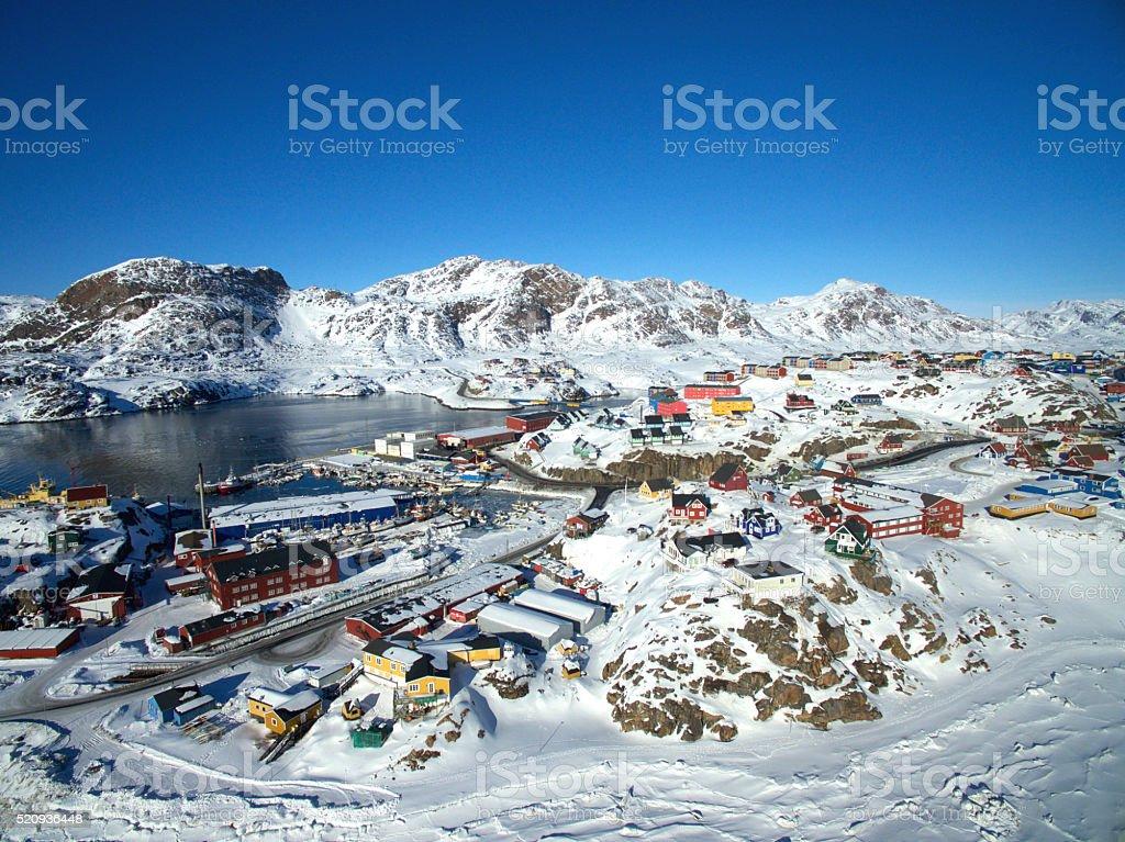 Sisimiut in Greenland stock photo