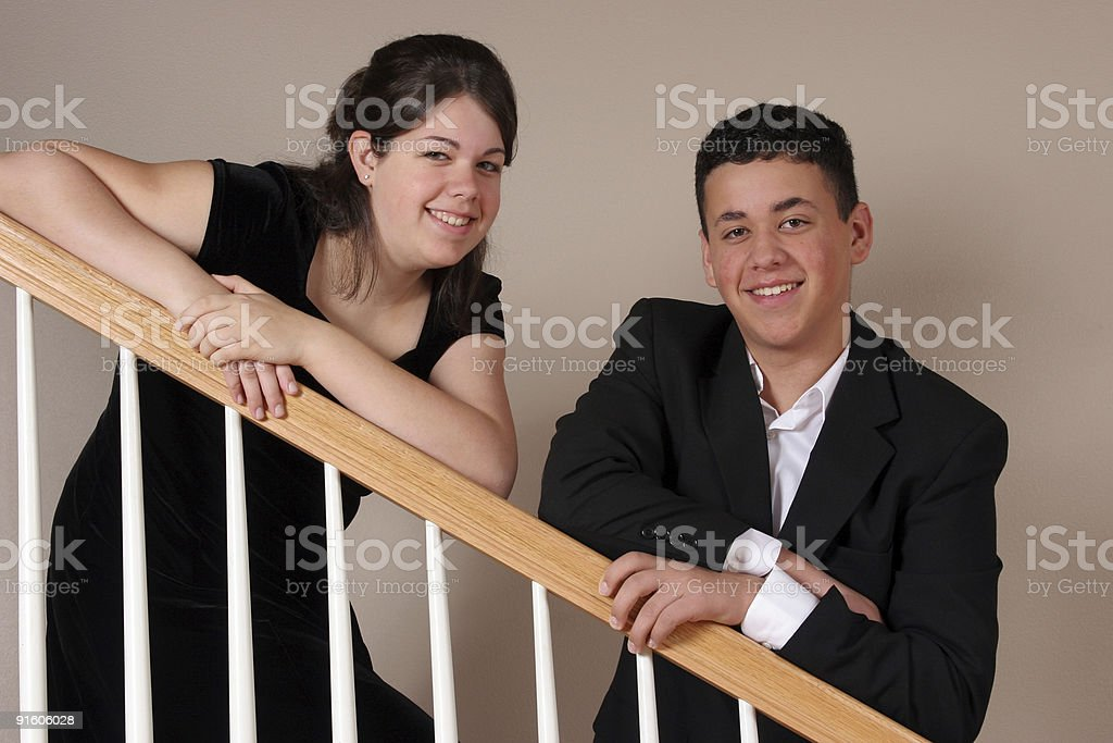 Sister and Brother Portrait royalty-free stock photo