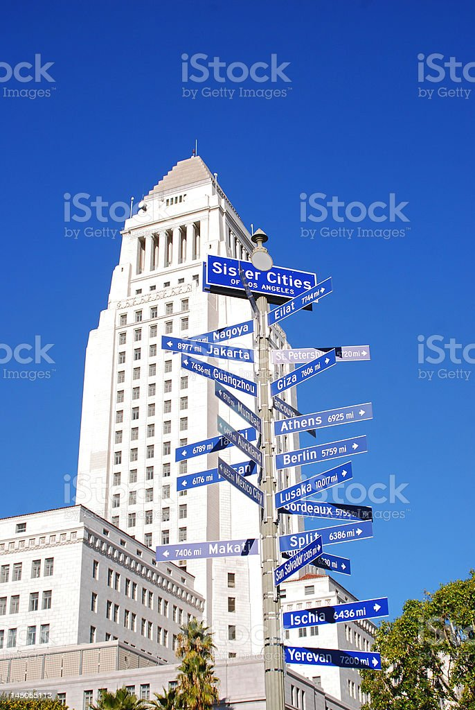 Sister Cities of Los Angeles stock photo