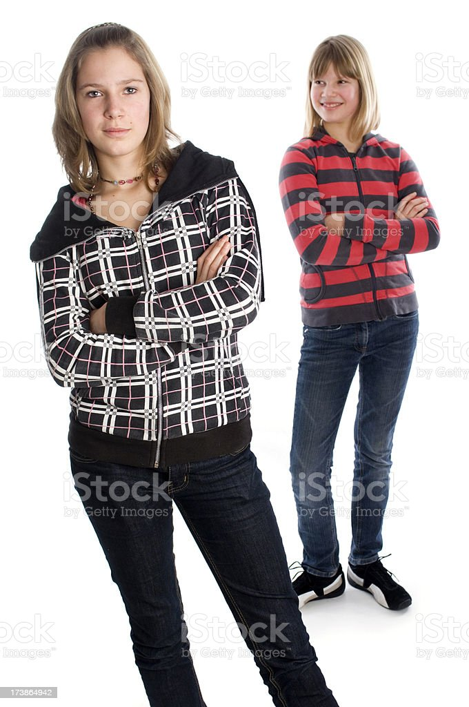 Sister conflict royalty-free stock photo