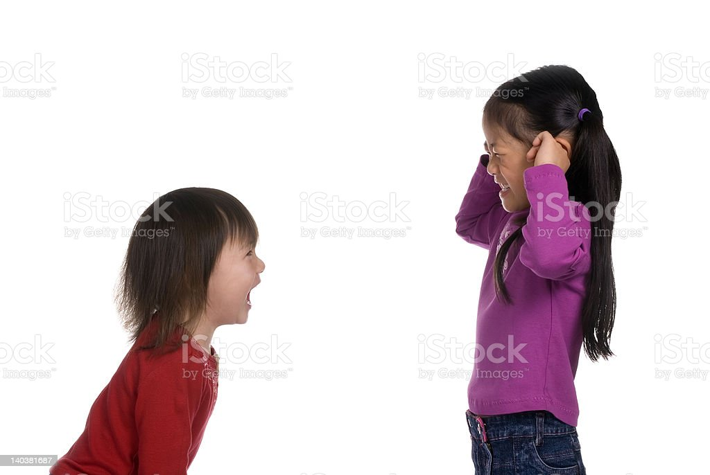 Sister Series 3 (Stop it) stock photo