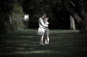 Sisterly love, girls having a hug