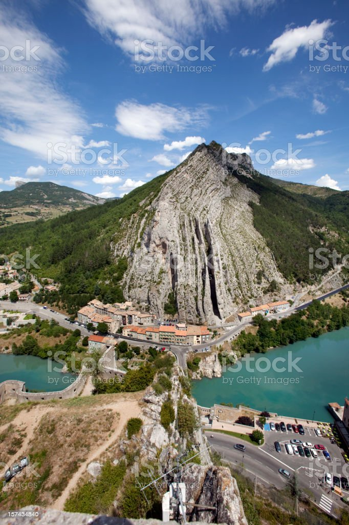 Sisteron in the Alps Provence France royalty-free stock photo
