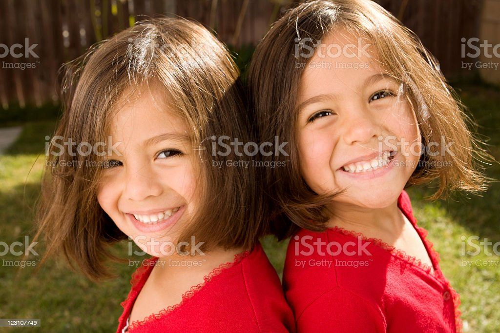 Sisters and best friends stock photo