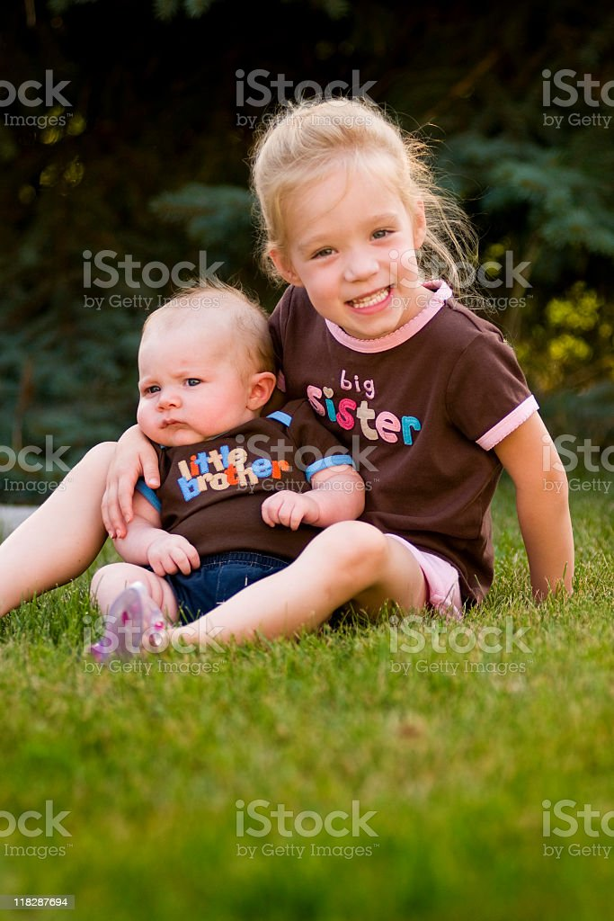 Sisters and Brothers royalty-free stock photo