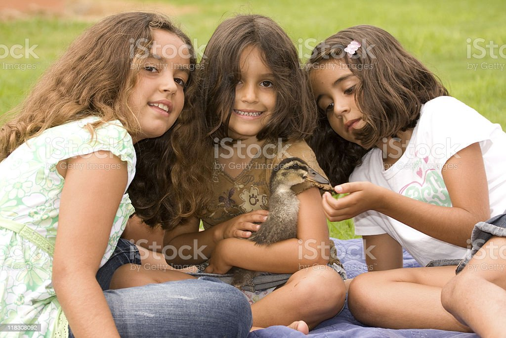 Sisters at the park royalty-free stock photo