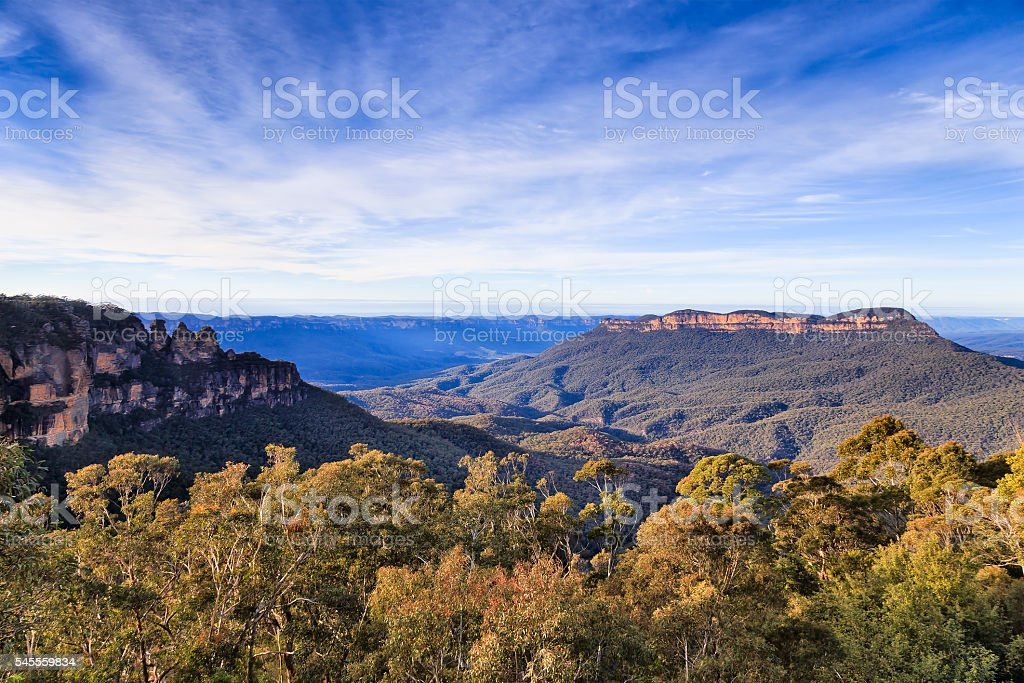 BM 3 sisters canyon from scenic stock photo
