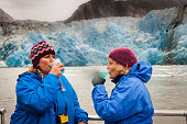 Sisters drinking glacier margaritas