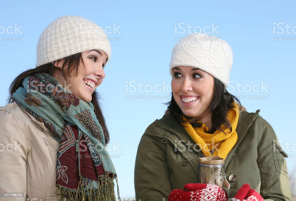 Sisters Enjoying Time Together royalty-free stock photo