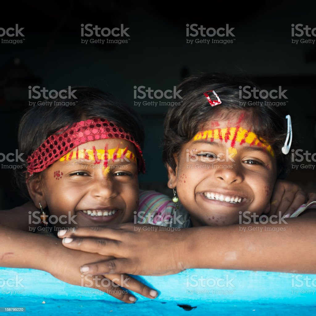 Sisters in India royalty-free stock photo