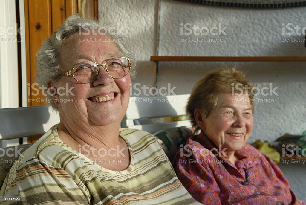 sisters in law, for more than 50 years royalty-free stock photo